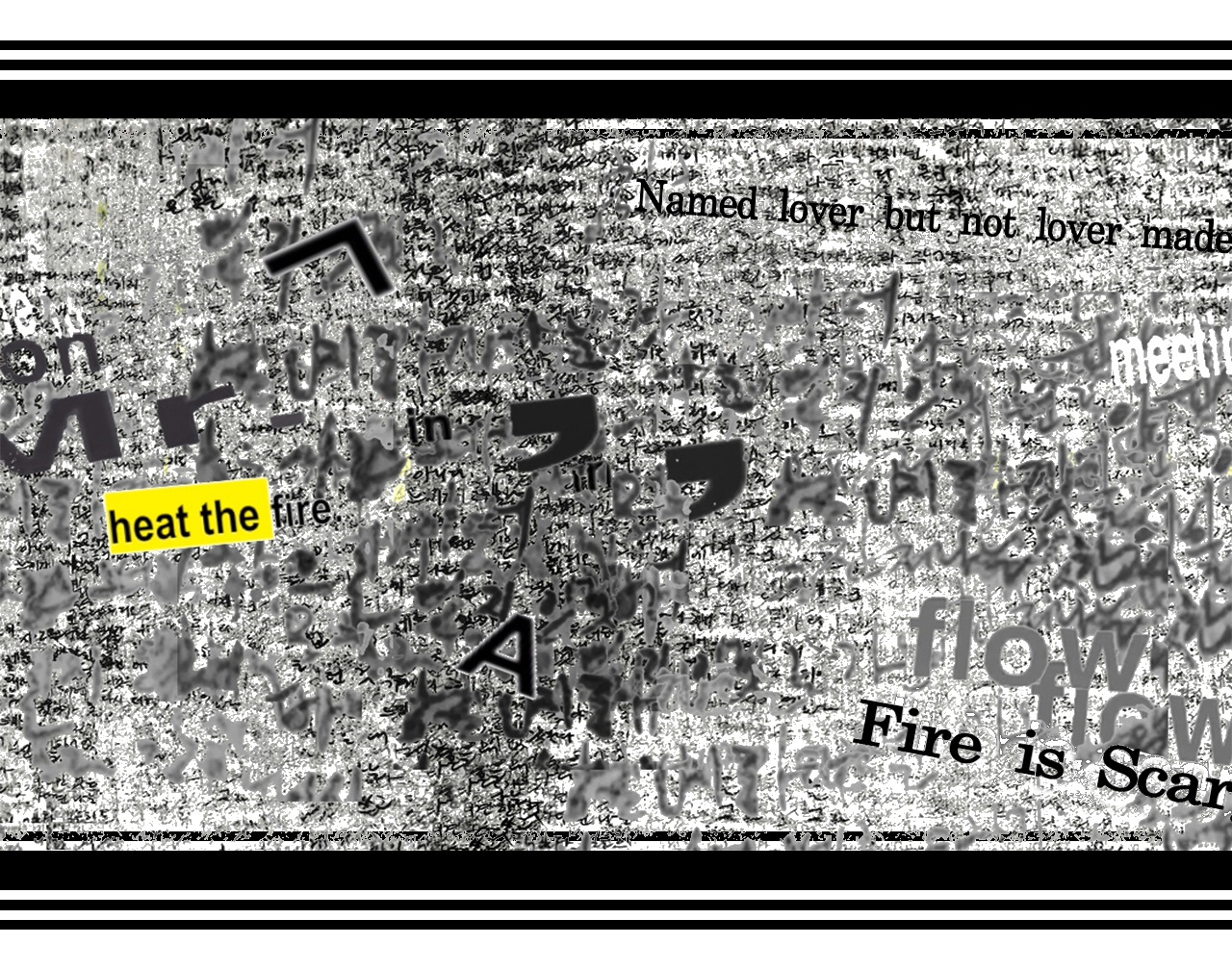 Fire is Scary: Translations Sound and Image